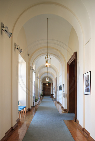 Corridor adjoining the Meeting Rooms, Devon County Hall, Exeter
